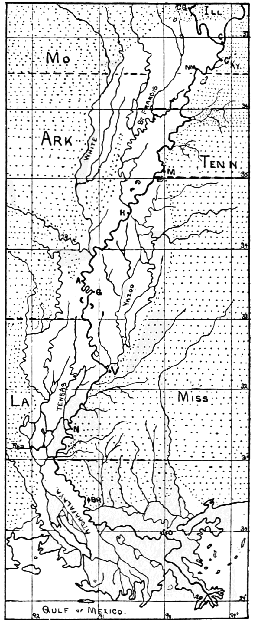 PSM V69 D253 Lower mississippi with tributaries alluvial basin and higher lands.png