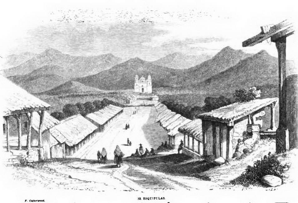 Esquiplas en 1840. Grabado de Frederick Catherwood.  Imagen tomada de Wikimedia Commons.