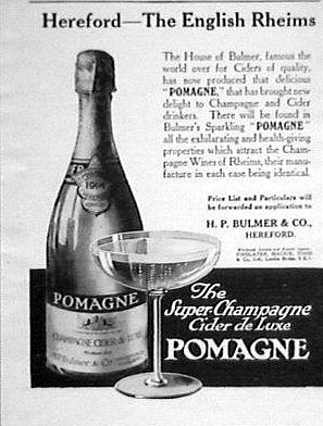 Print advertisement for Pomagne cider