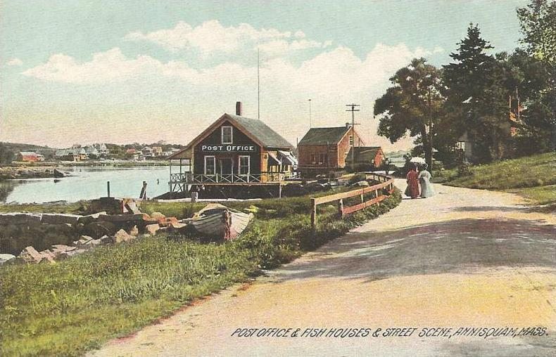 File post office fish houses street scene annisquam for Mass street fish house