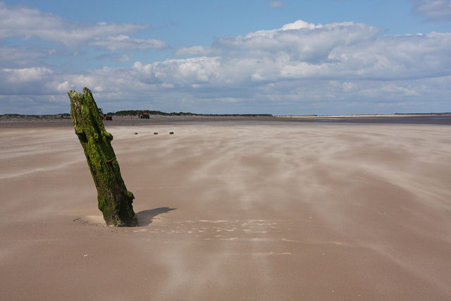 Post in the sand, Brancaster - geograph.org.uk - 852229
