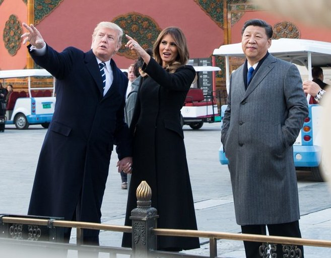Pres. and Mrs Trump and Chinese President