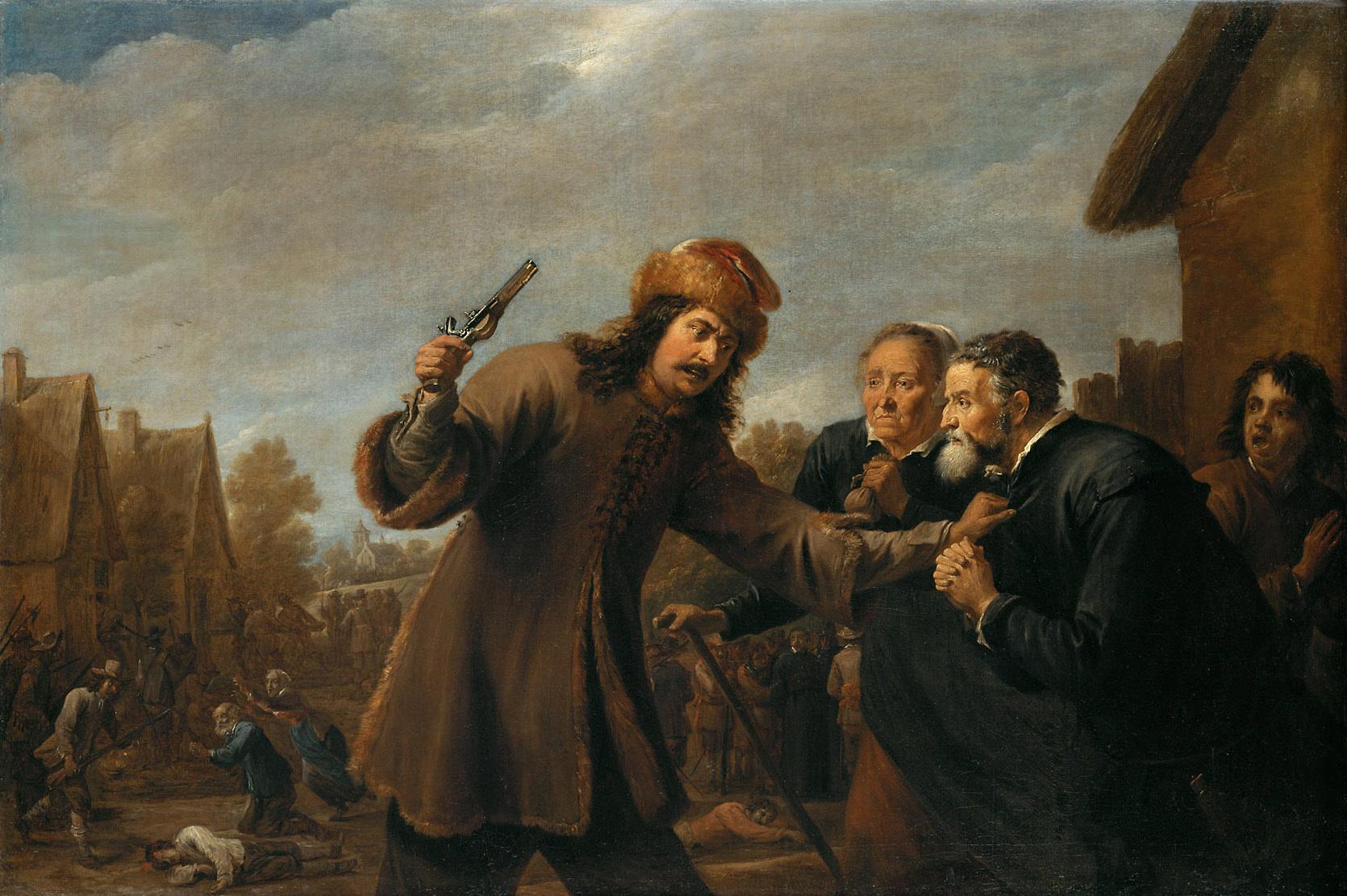 Raid on a Village by David Teniers d. J. - 1648