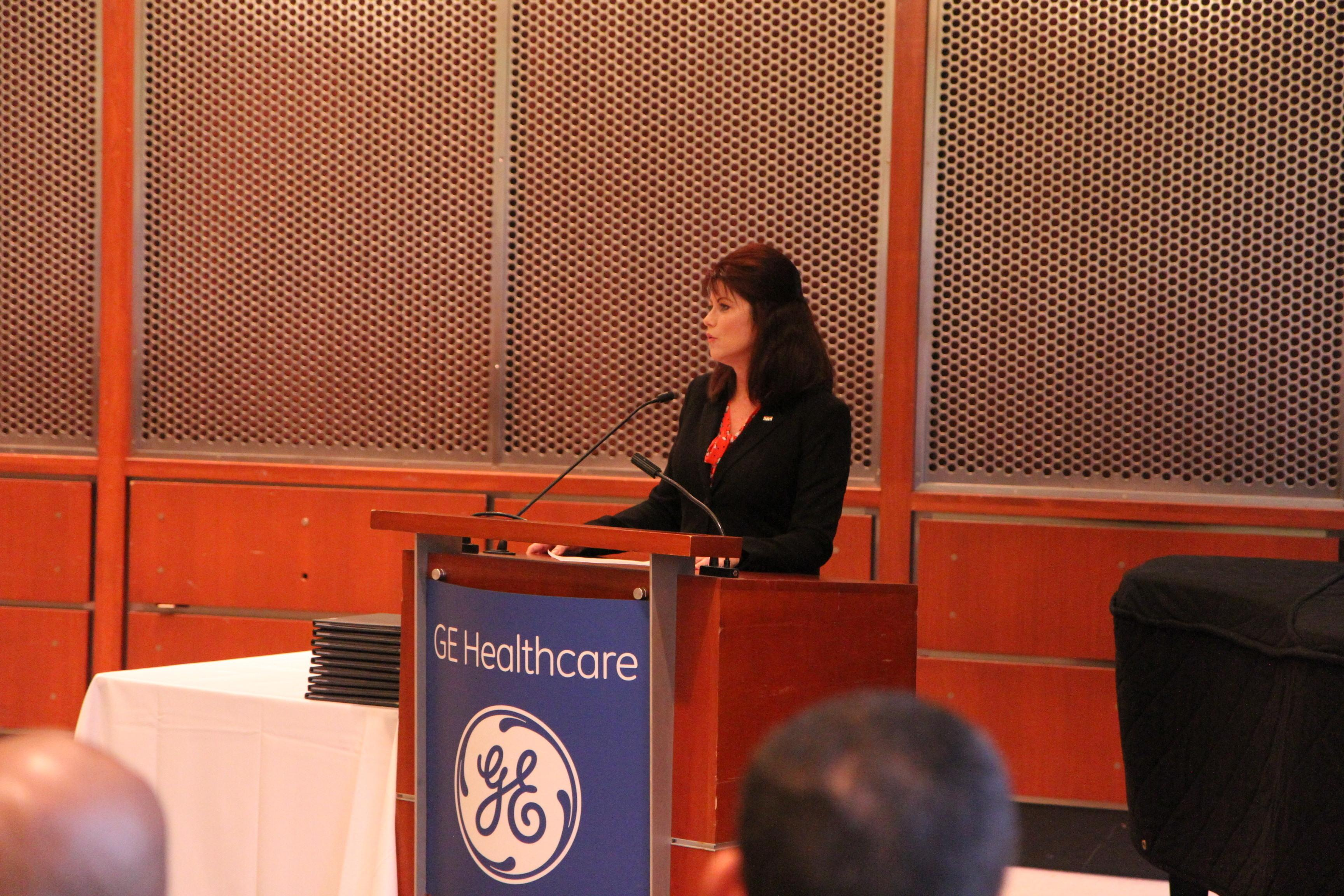FileRebecca Kleefisch Addresses Graduates During The General Electric Military Externship Graduation Ceremony