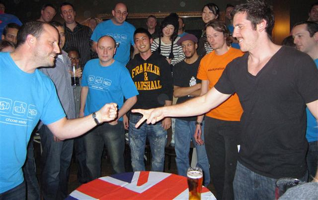 4th UK Rock Paper Scissors Championships by James Bamber via Wikimedia
