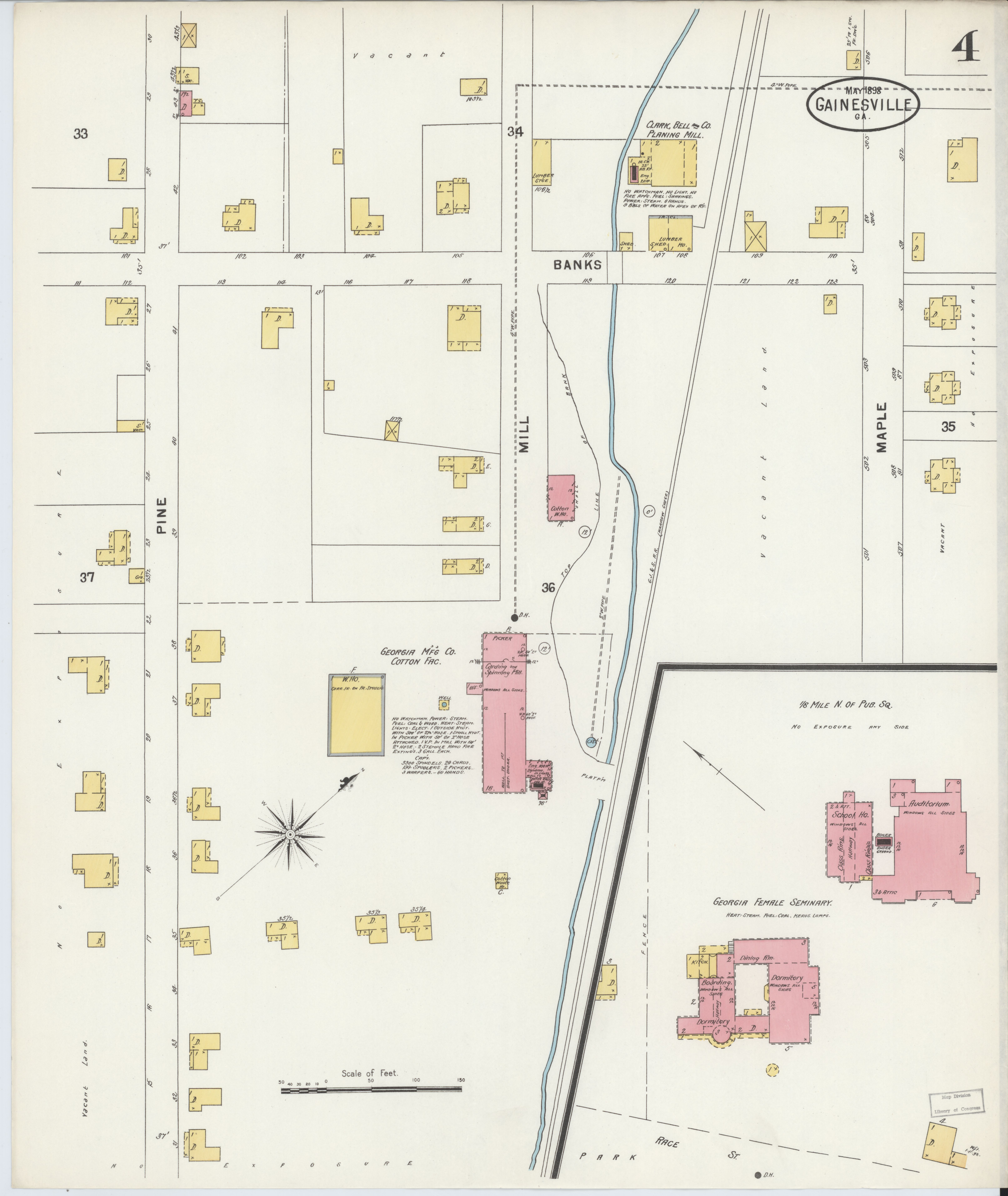 Map Of Georgia Fire.File Sanborn Fire Insurance Map From Gainesville Hall County
