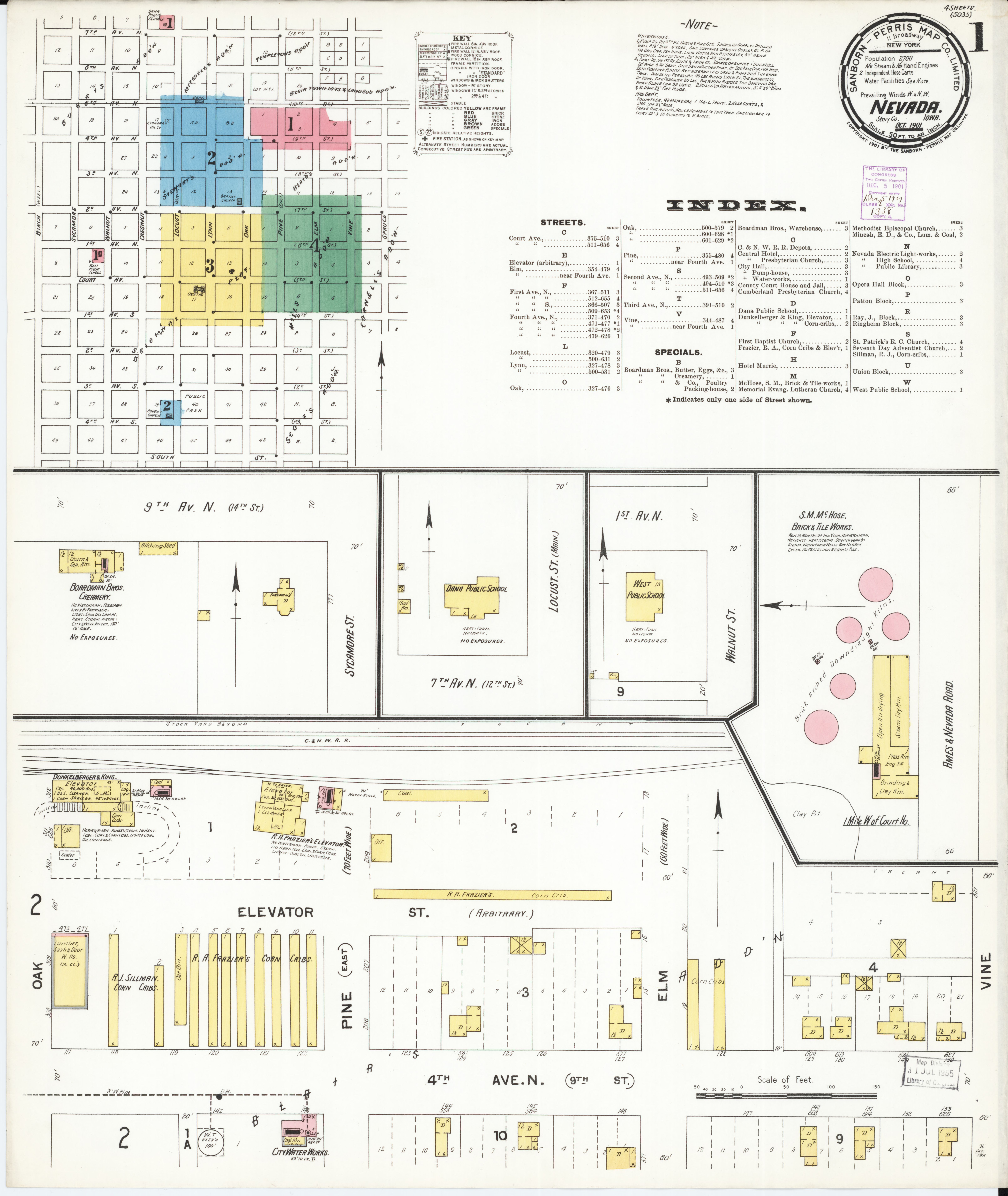 File Sanborn Fire Insurance Map From Nevada Story County Iowa Loc