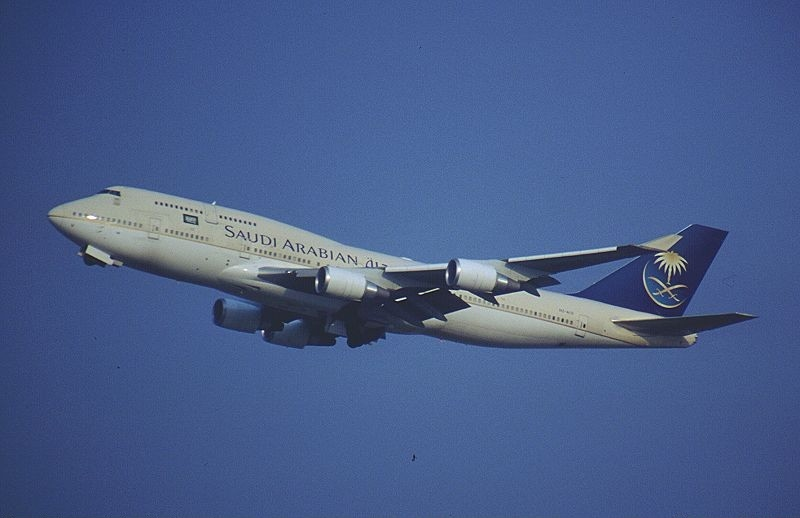 Saudi Arabian Airlines Boeing 747-468 (HZ-AIV) departing Washington Dulles International Airport