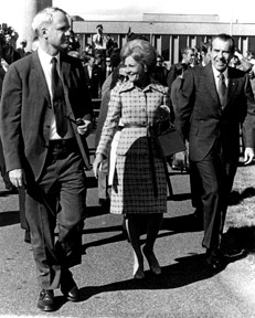 AEC chair James R. Schlesinger with President Richard M. Nixon and First Lady Pat Nixon at the AEC's Hanford Site in 1971