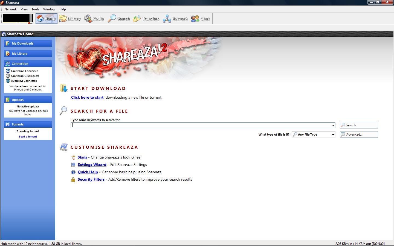 shareaza gratuit 2010