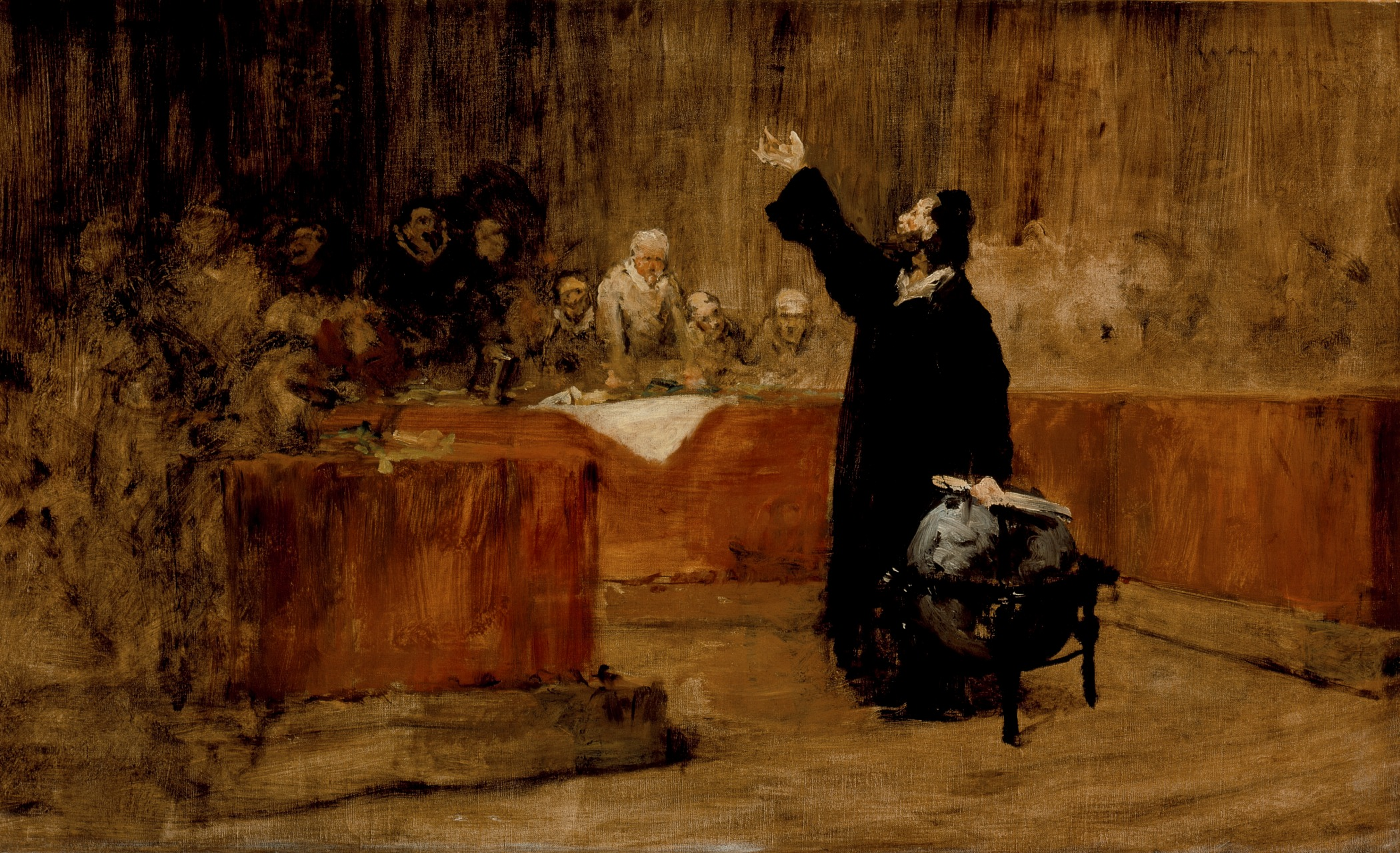 file sketch for a picture columbus before the council of