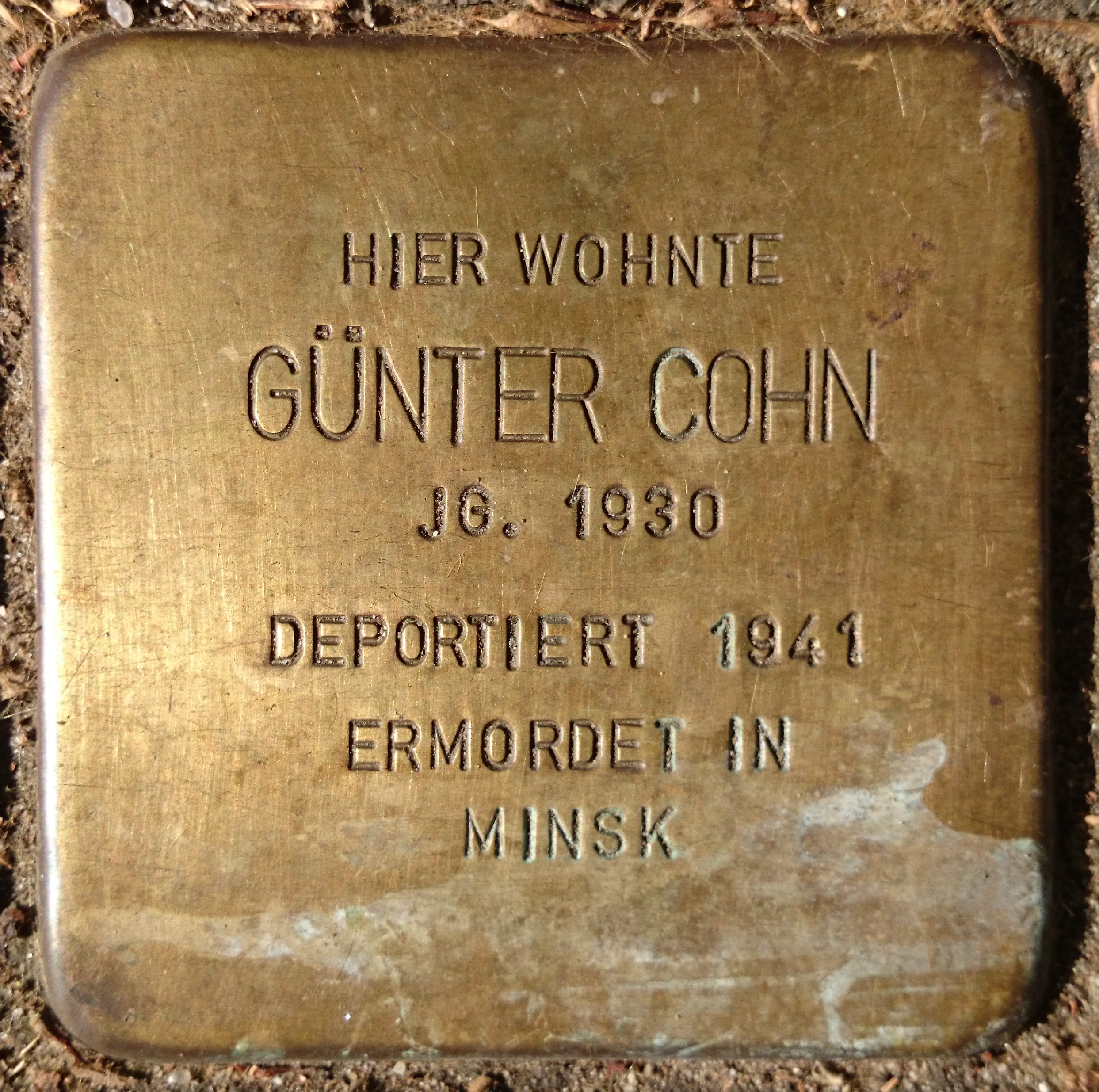datei stolpersteine bremen cohn g nter jpg wikipedia. Black Bedroom Furniture Sets. Home Design Ideas