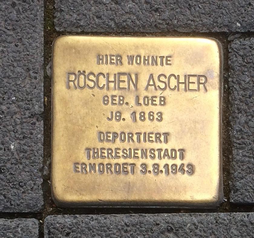 Stolpersteine Neuwied Langendorfer Straße 133 Röschen Ascher.jpg