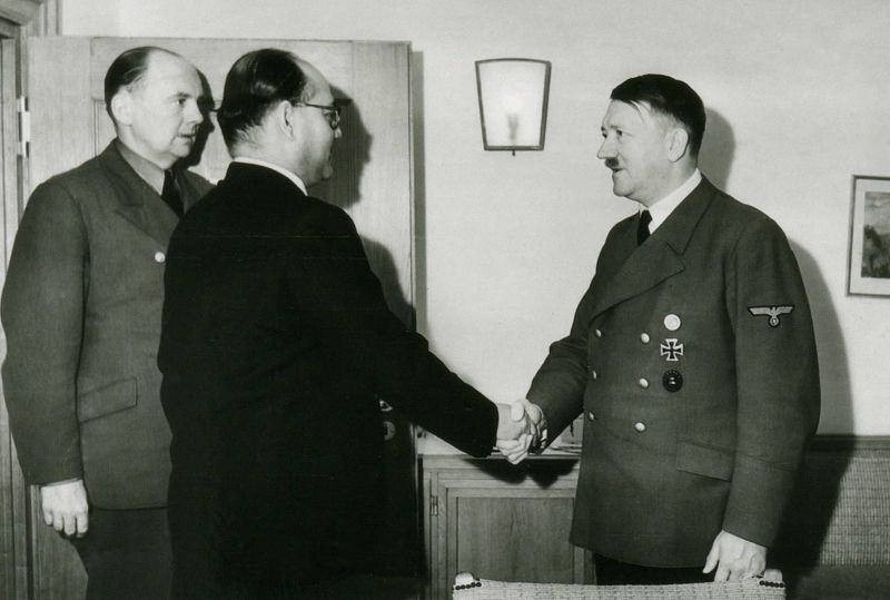 Subhash Chandra Bose travelled to Germany to seek Adolf Hitler's help. Wikimedia Commons