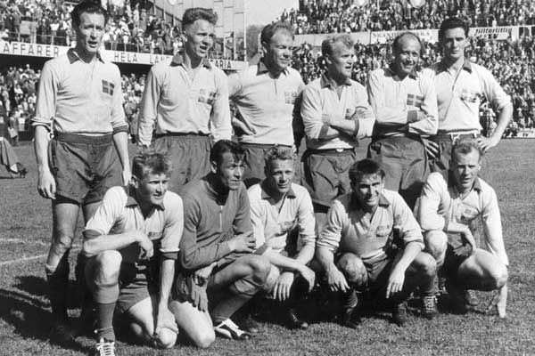 Sweden in the 1958 FIFA World Cup Final.