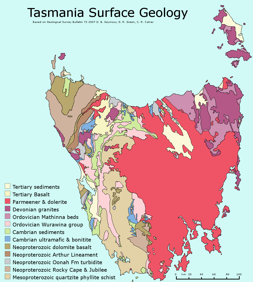 Geology of Tasmania Wikipedia