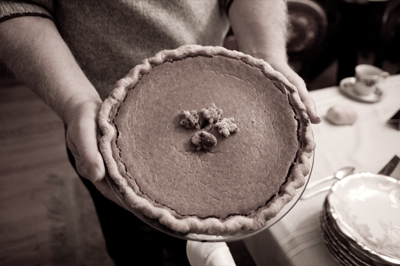 File:Thanksgiving 2008 pumpkin pie with pecans.jpg