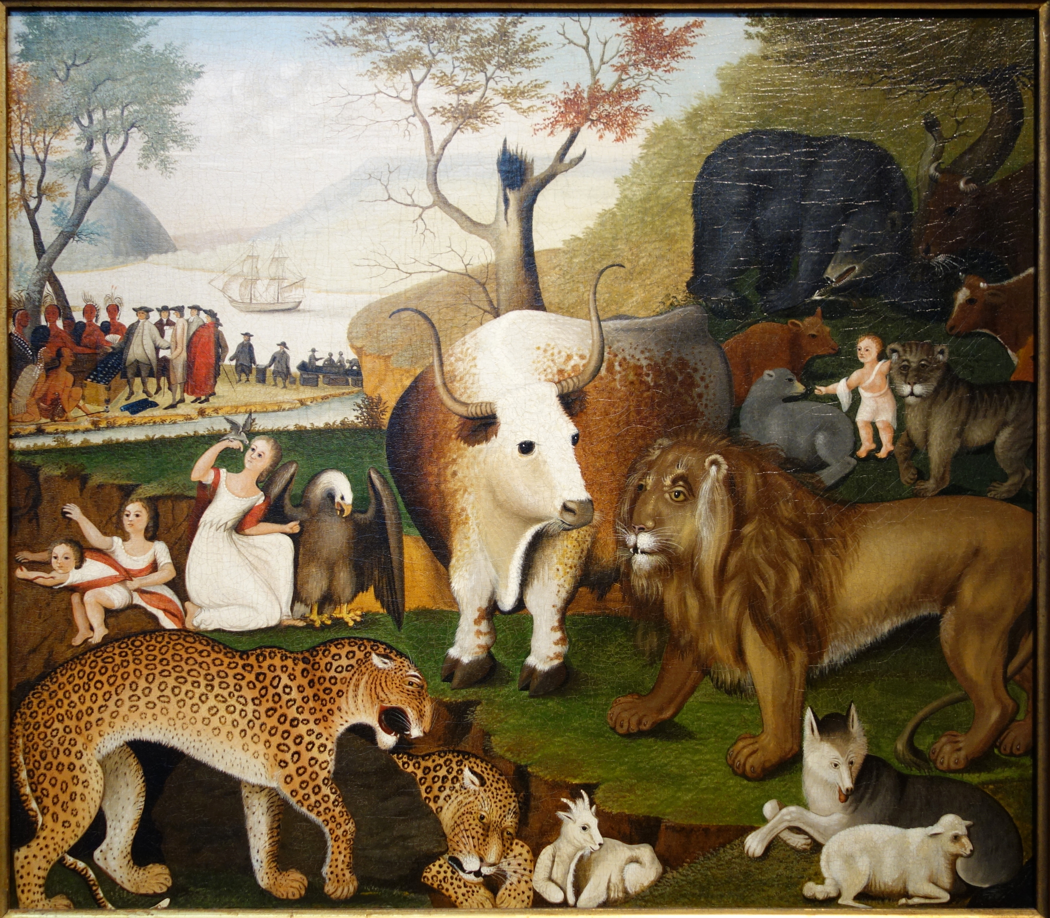 The Peaceable Kingdom By Edward Hicks C C C Oil On Canvas De Young Museum Dsc