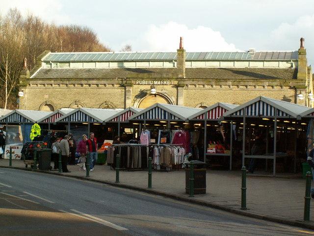 File Todmorden Market From Burnley Road Geograph Org Uk