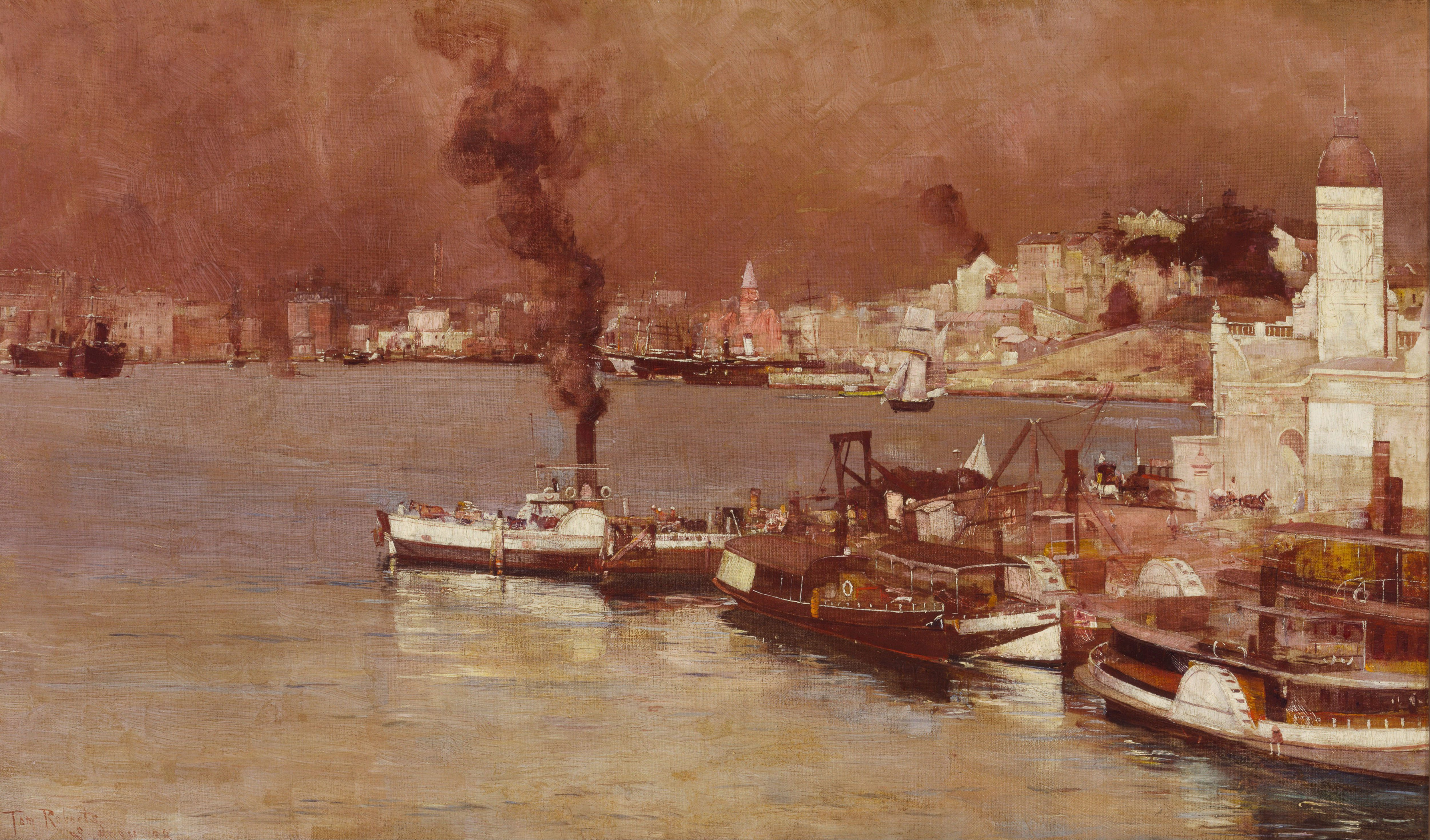 File Tom Roberts An Autumn Morning Milson S Point