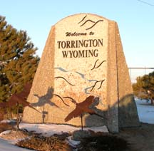 Sign at western entrance to Torrington