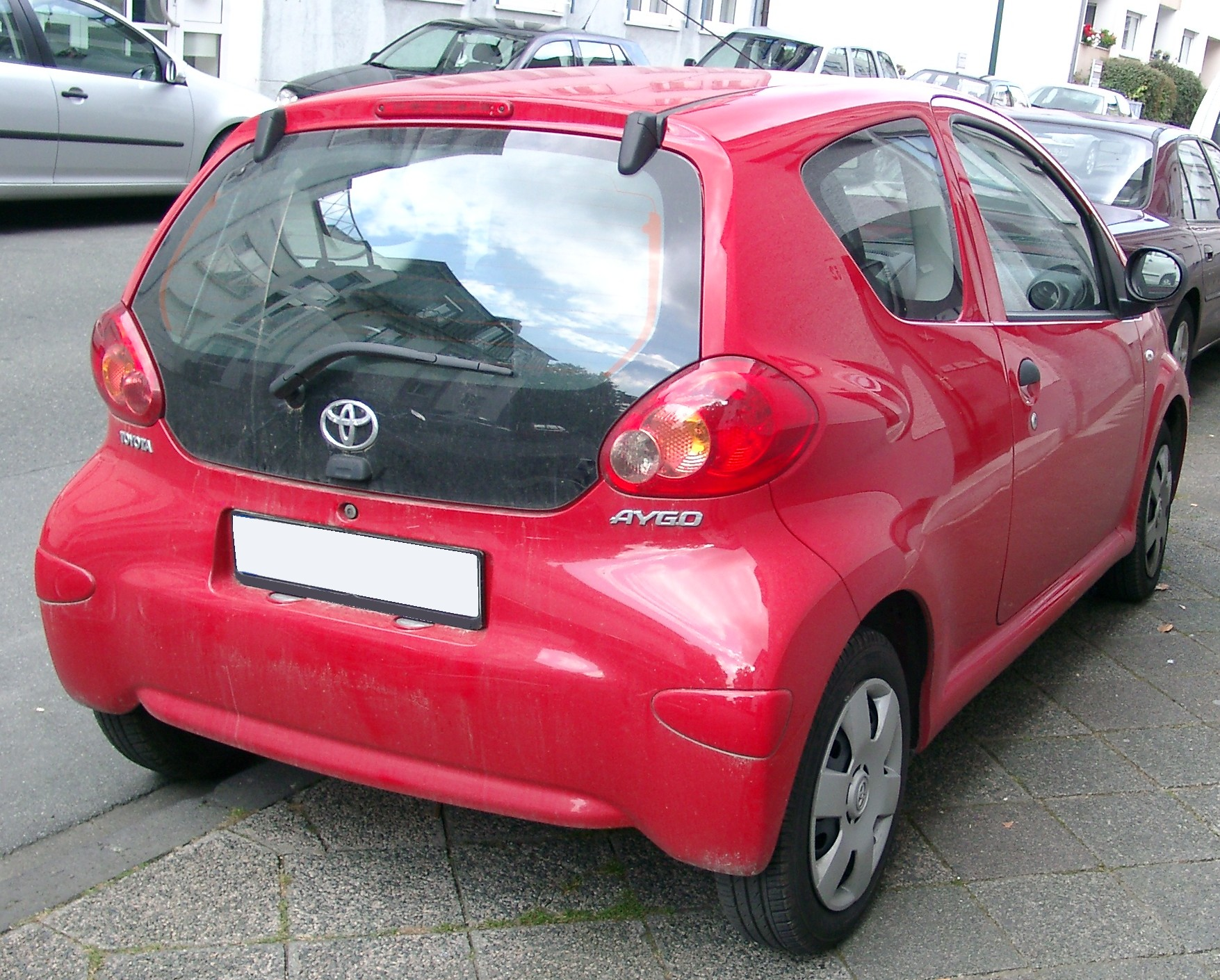 file toyota aygo rear wikimedia commons. Black Bedroom Furniture Sets. Home Design Ideas