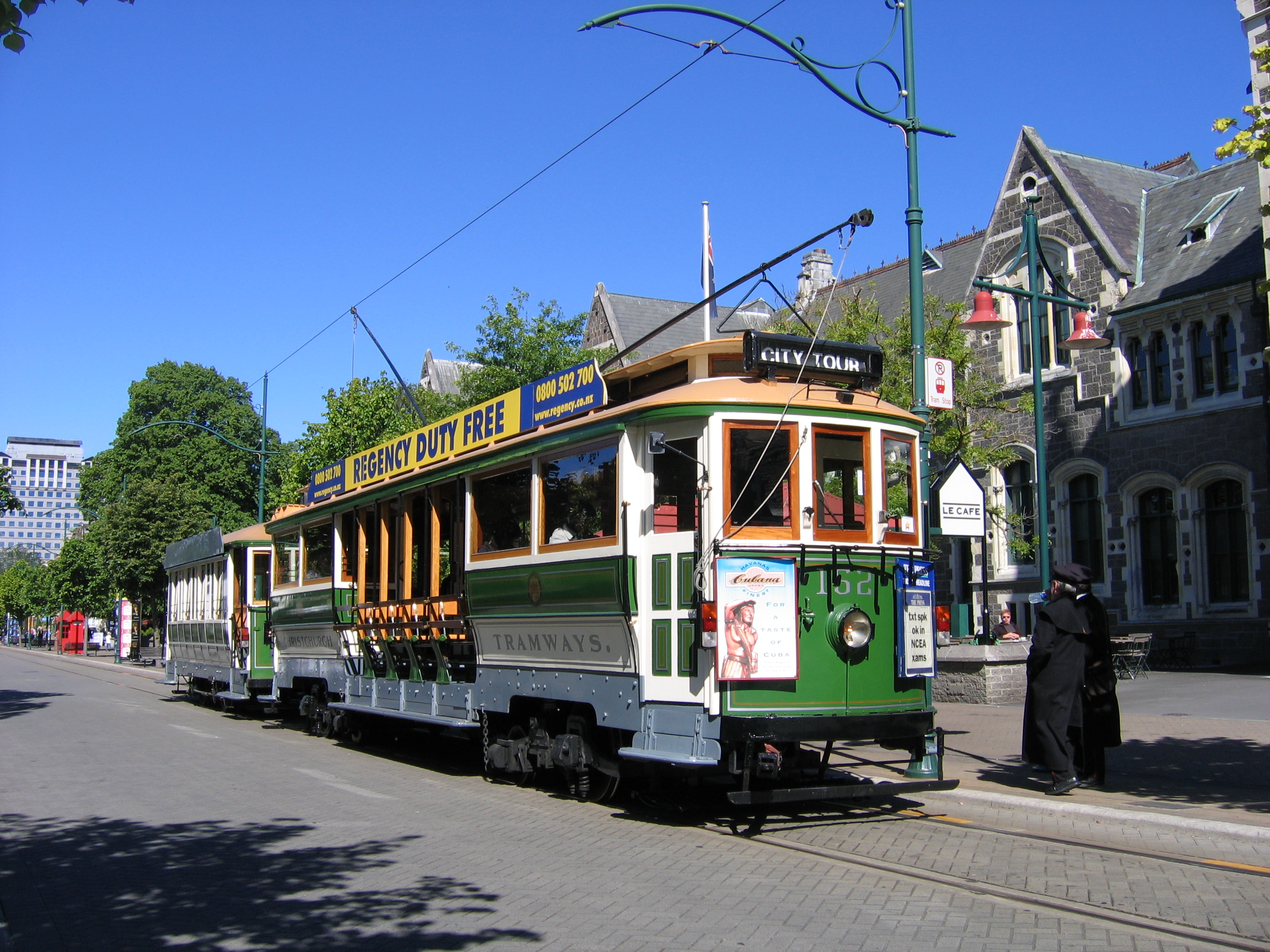 Neuseeland Christchurch: File:Tram Christchurch.jpg