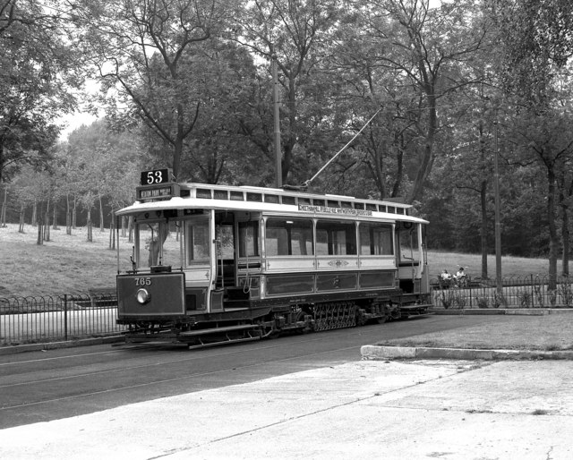 Tram in Heaton Park, Manchester - geograph.org.uk - 579792