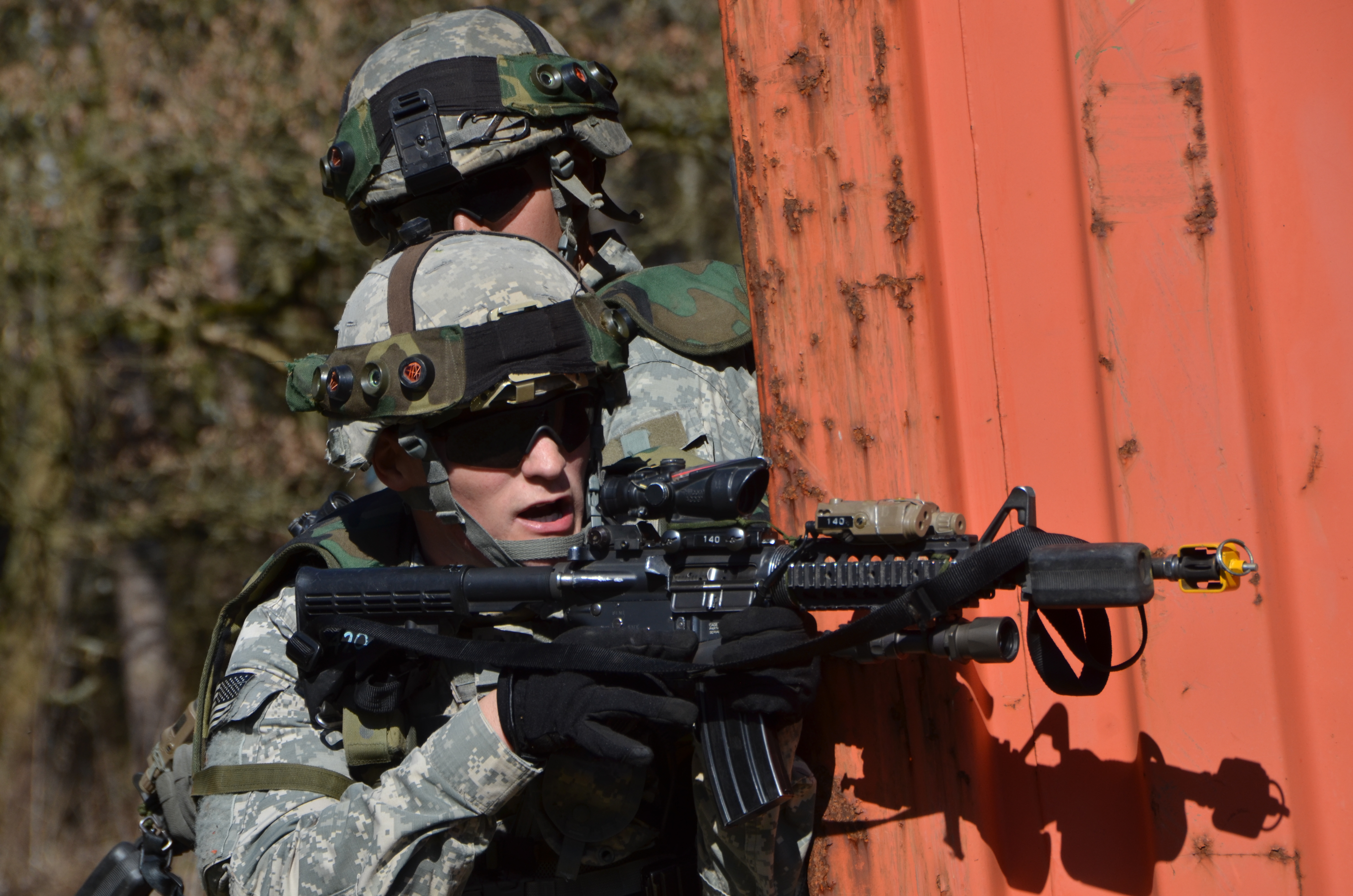 FileUS Soldiers With The 1st Squadron 91st Cavalry Regiment 173rd Airborne Brigade Combat Team Cover Their Sector Of Fire March 20 2014
