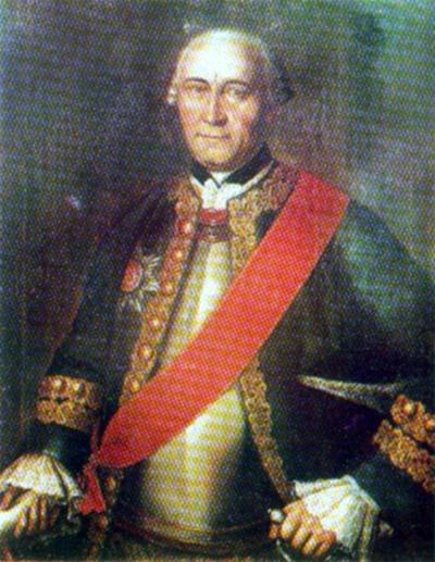 Парадный портрет Гудовича, 1743 год. Неизвестный художник. Холст, масло. Черниговский художественный музей.
