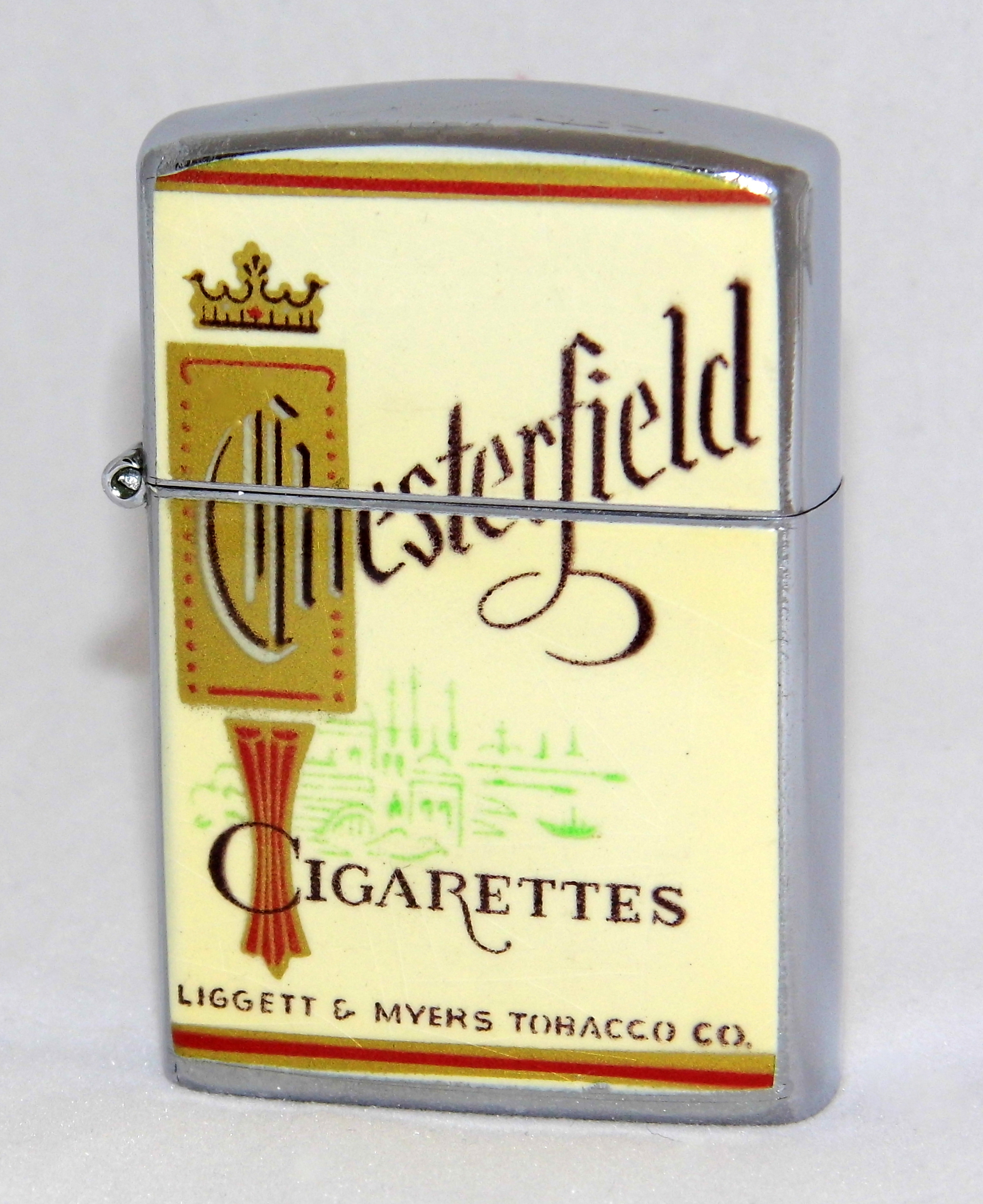 Filevintage Chesterfield Cigarettes Lighter Made By Continental