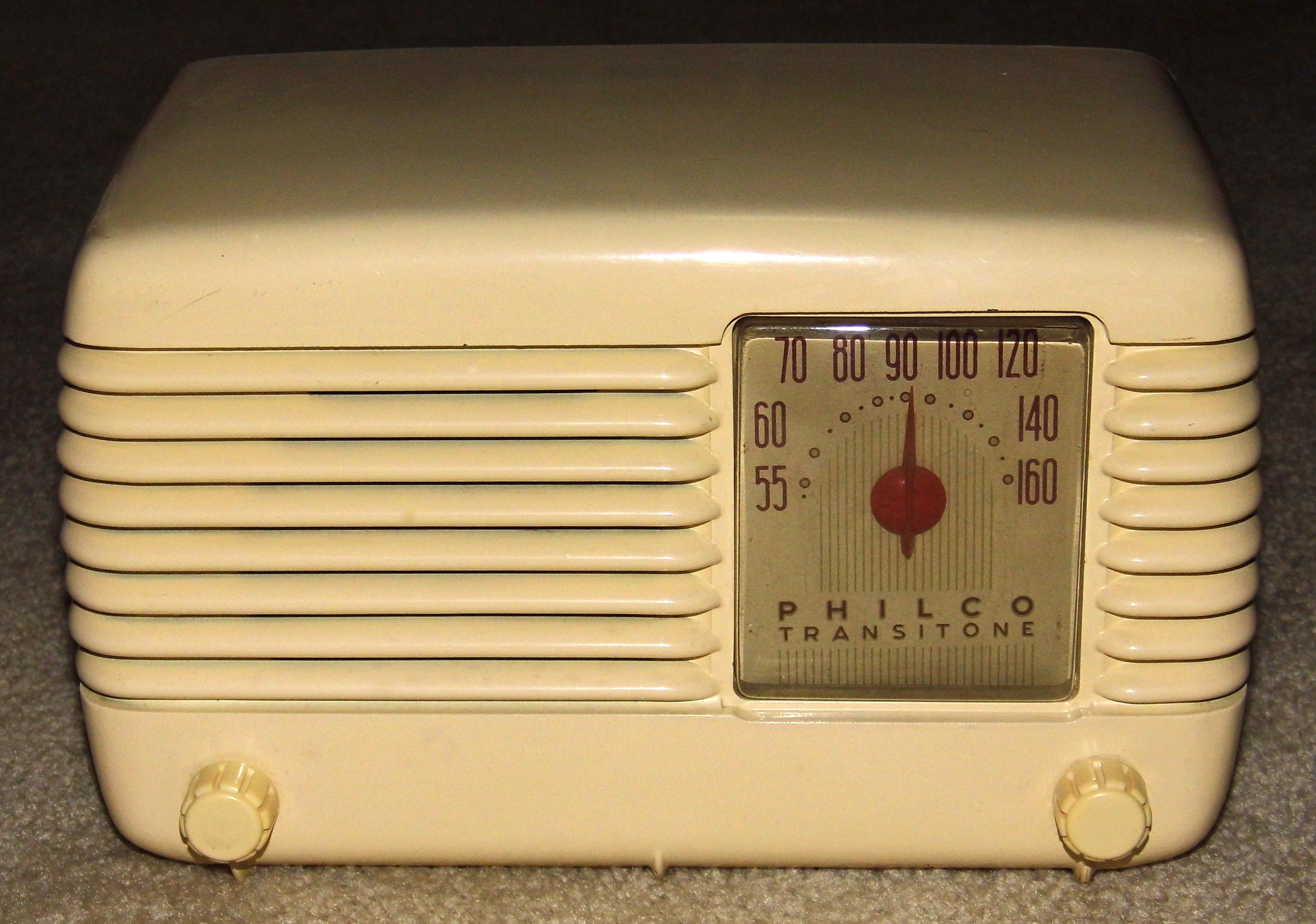 FileVintage Philco Transitone AM Table Radio Model 48 200 I 5
