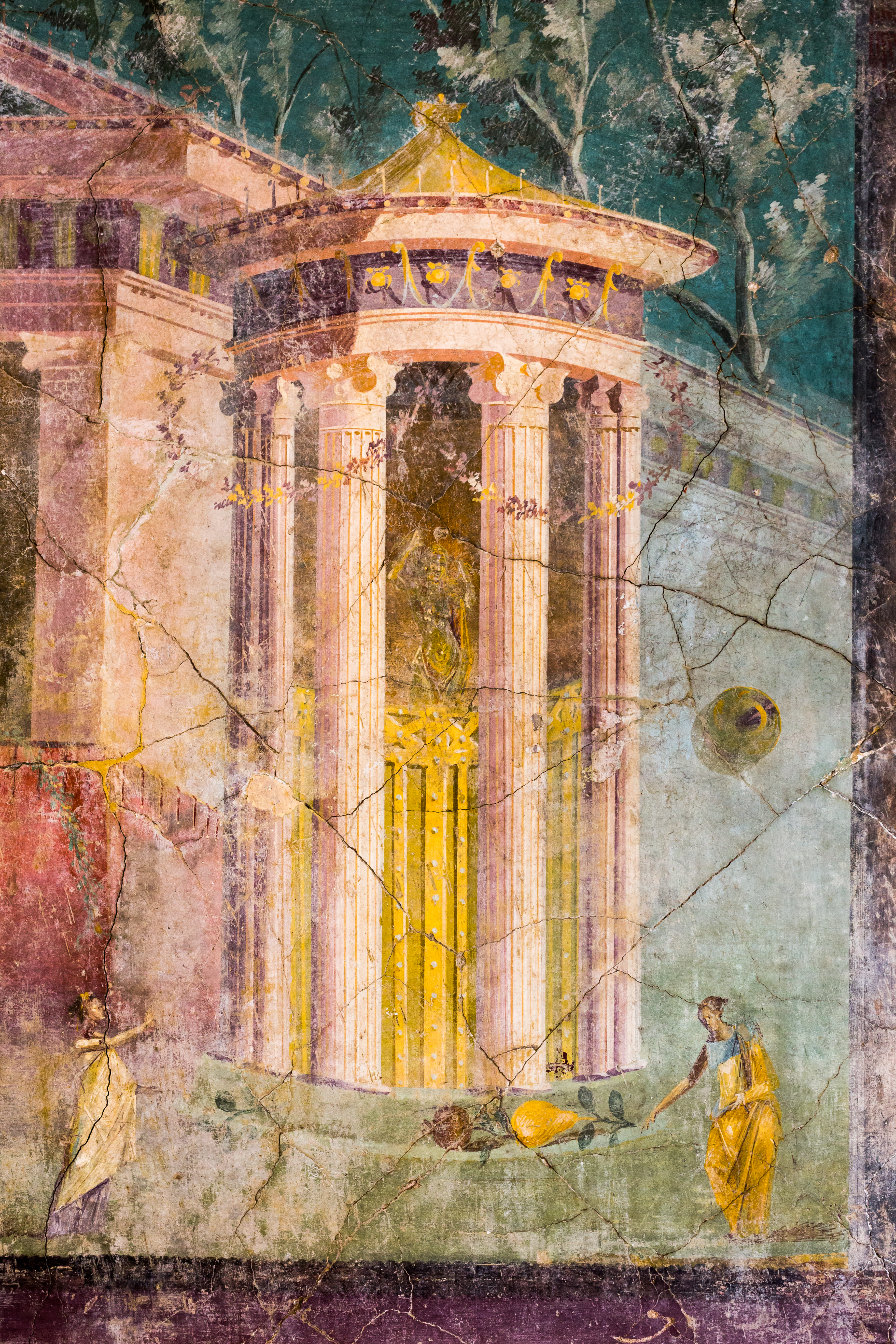 https://upload.wikimedia.org/wikipedia/commons/6/63/Wall_painting_-_entrance_to_a_sanctuary_with_tholos_-_Pompeii_%28VI_41_Insula_Occidentalis%29_-_Napoli_MAN_8594_-_03.jpg