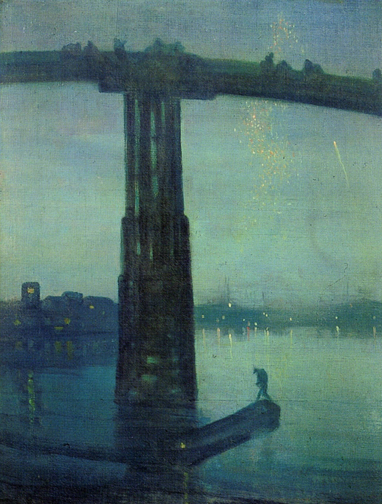 Compositeur / arts graphiques Whistler_James_Nocturne_in_Blue_and_Green