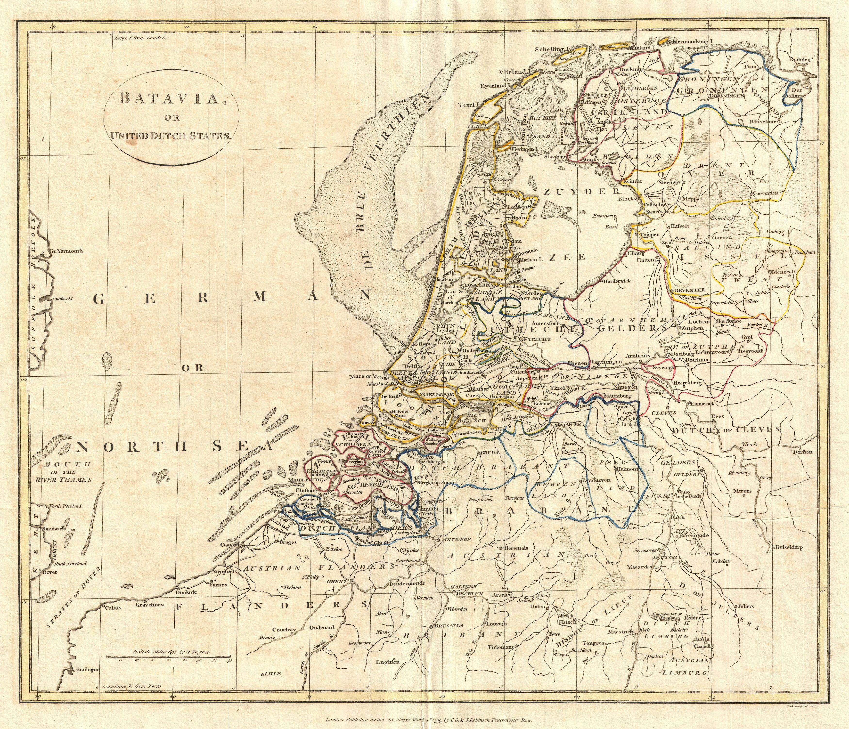 File1799 Clement Cruttwell Map of Holland or the Netherlands