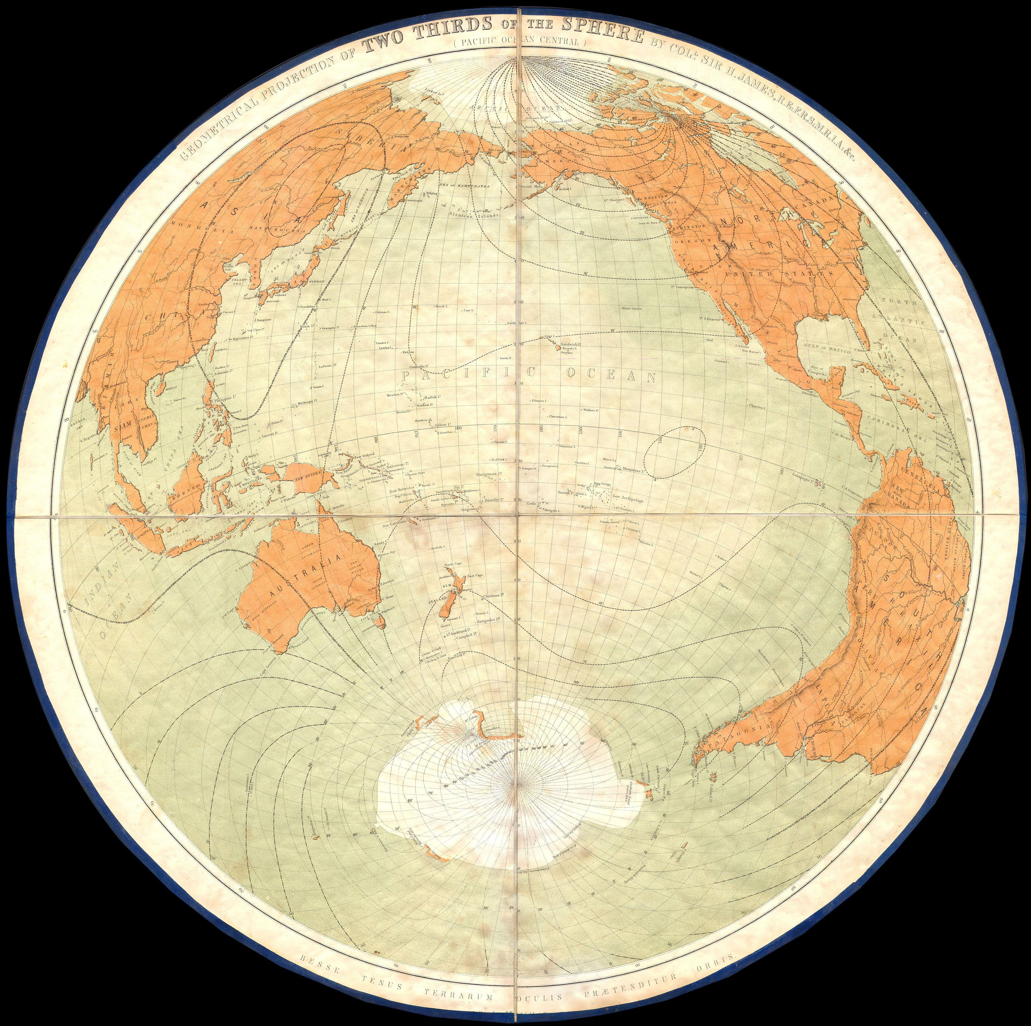 File1860 james polar projection of the globe antarctica pacific file1860 james polar projection of the globe antarctica pacific center geographicus gumiabroncs Choice Image