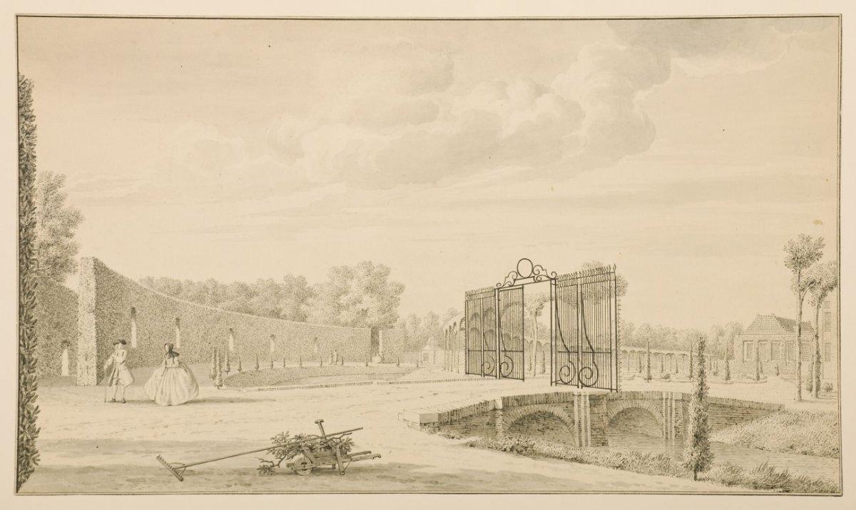 File 18e eeuwse tekening van de bosch en het tuinontwerp van zocher 1831 zeist 20429335 - Tuinontwerp ...