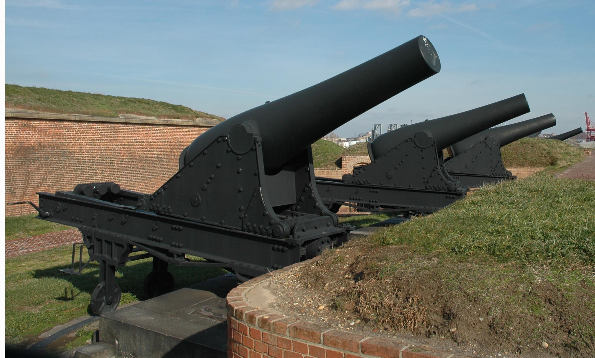 Rodman gun emplacement at Fort McHenry