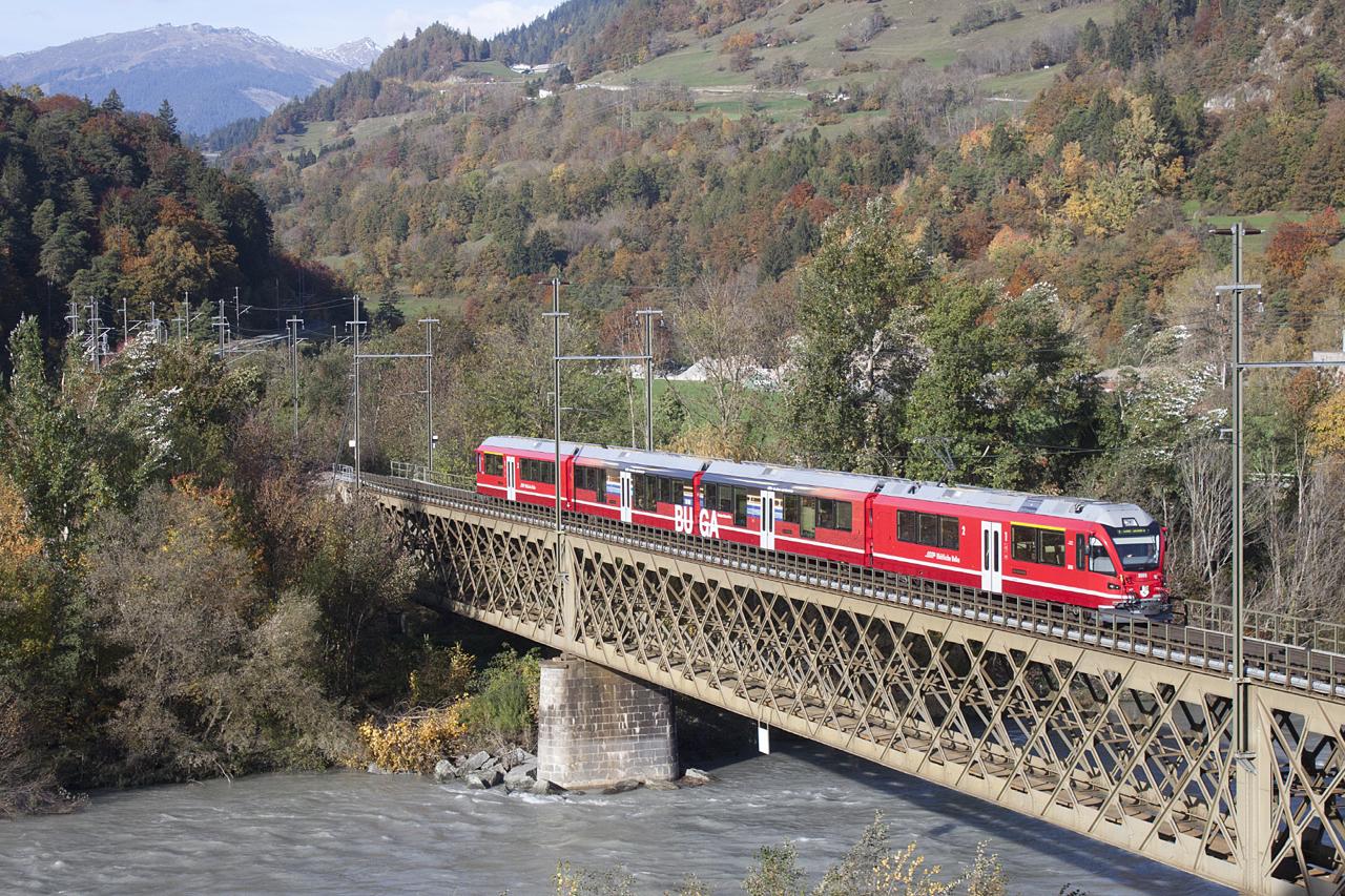 Puente metálico sobre el Rhin posterior en Reichenau