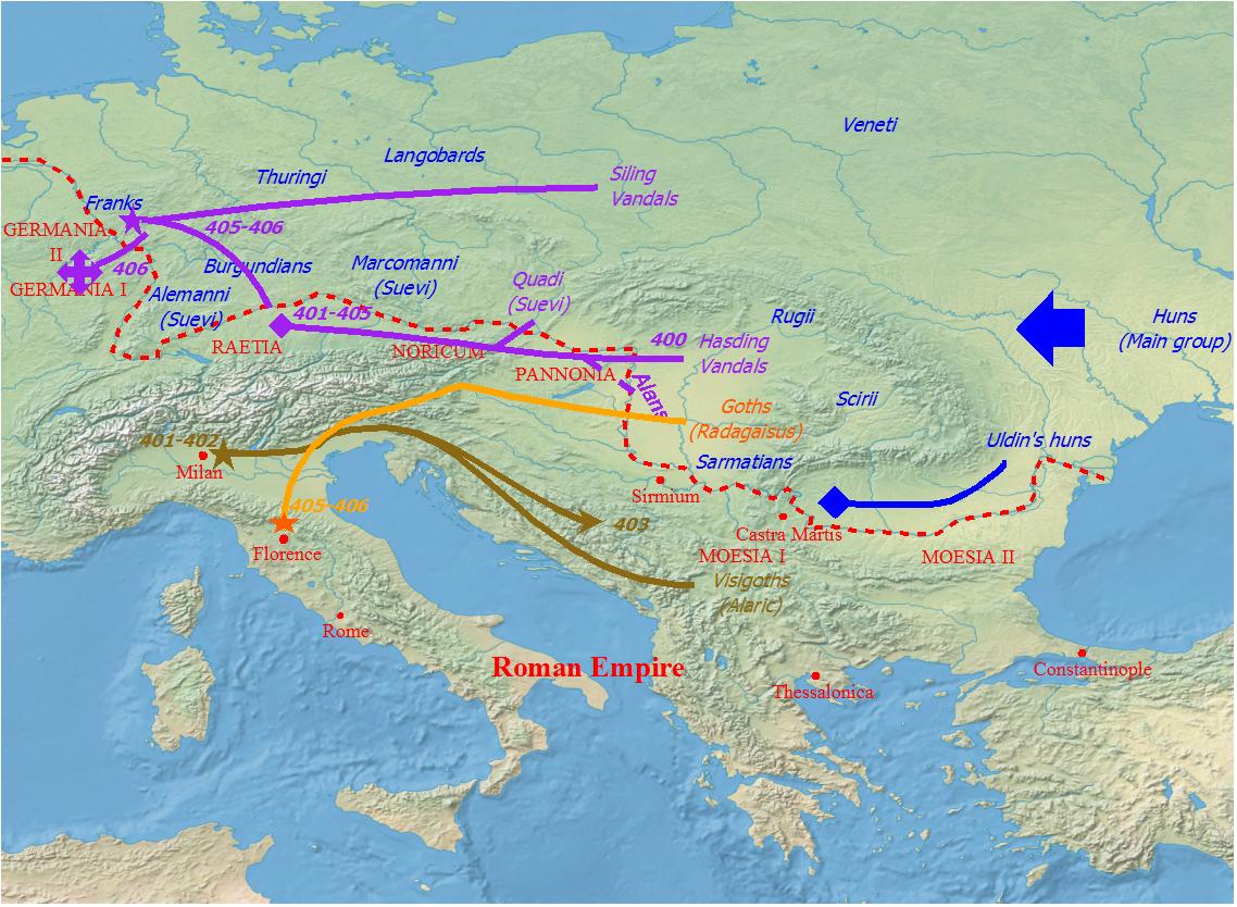 Le invasioni barbariche nel periodo in cui Godigìselo fu re dei Vandali Asdingi