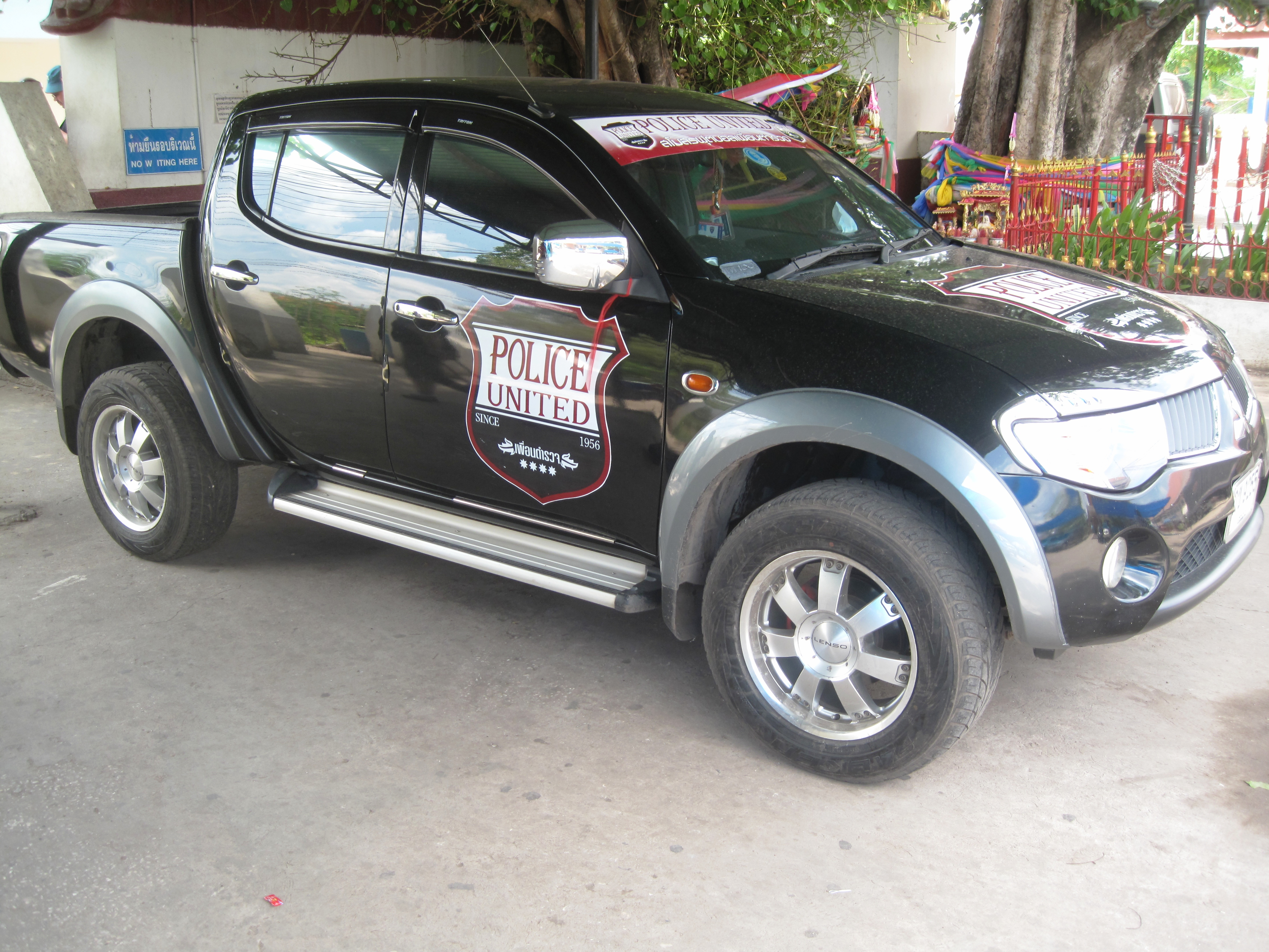 File A Car With Police United Fc Logo In Thailand By The