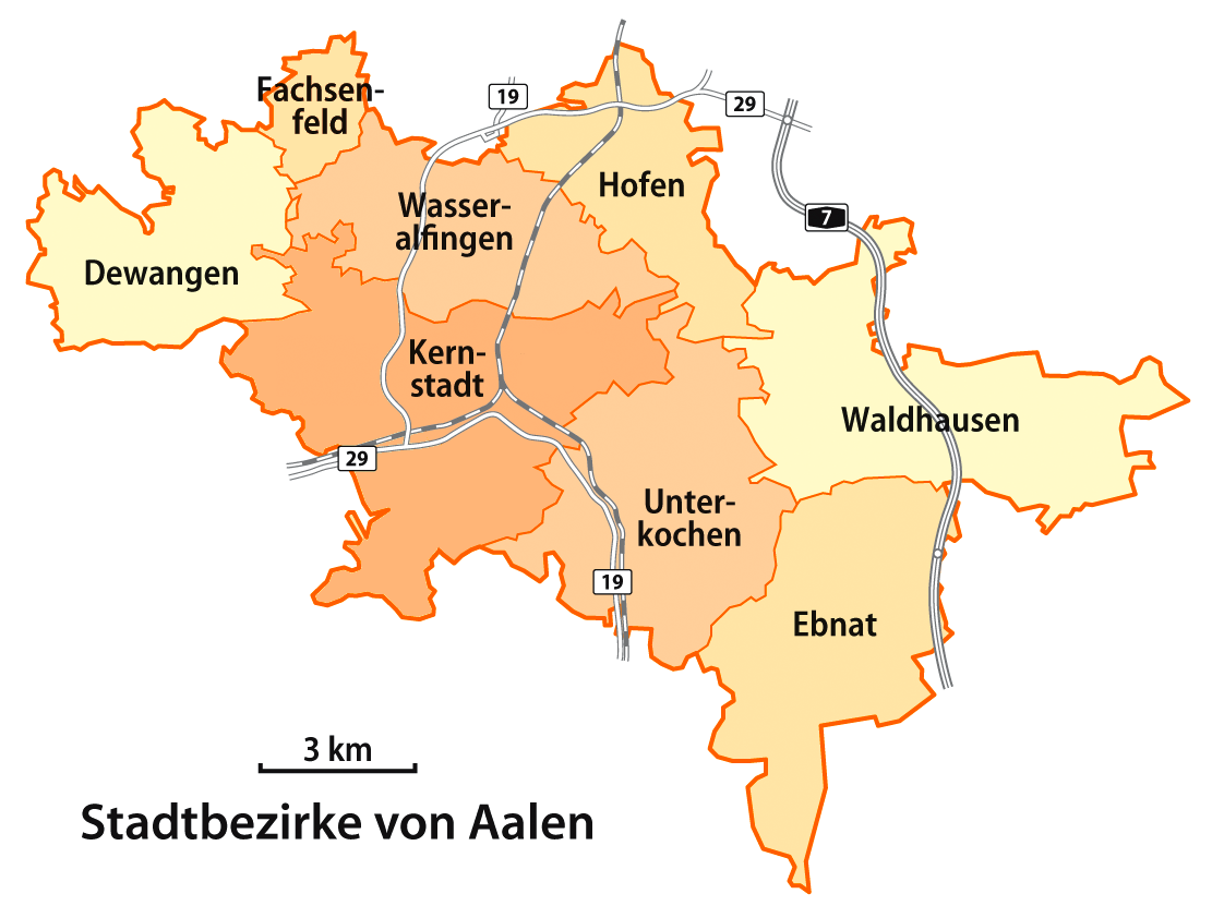 Aalen Germany  city pictures gallery : Aalen Stadtbezirke Wikimedia Commons