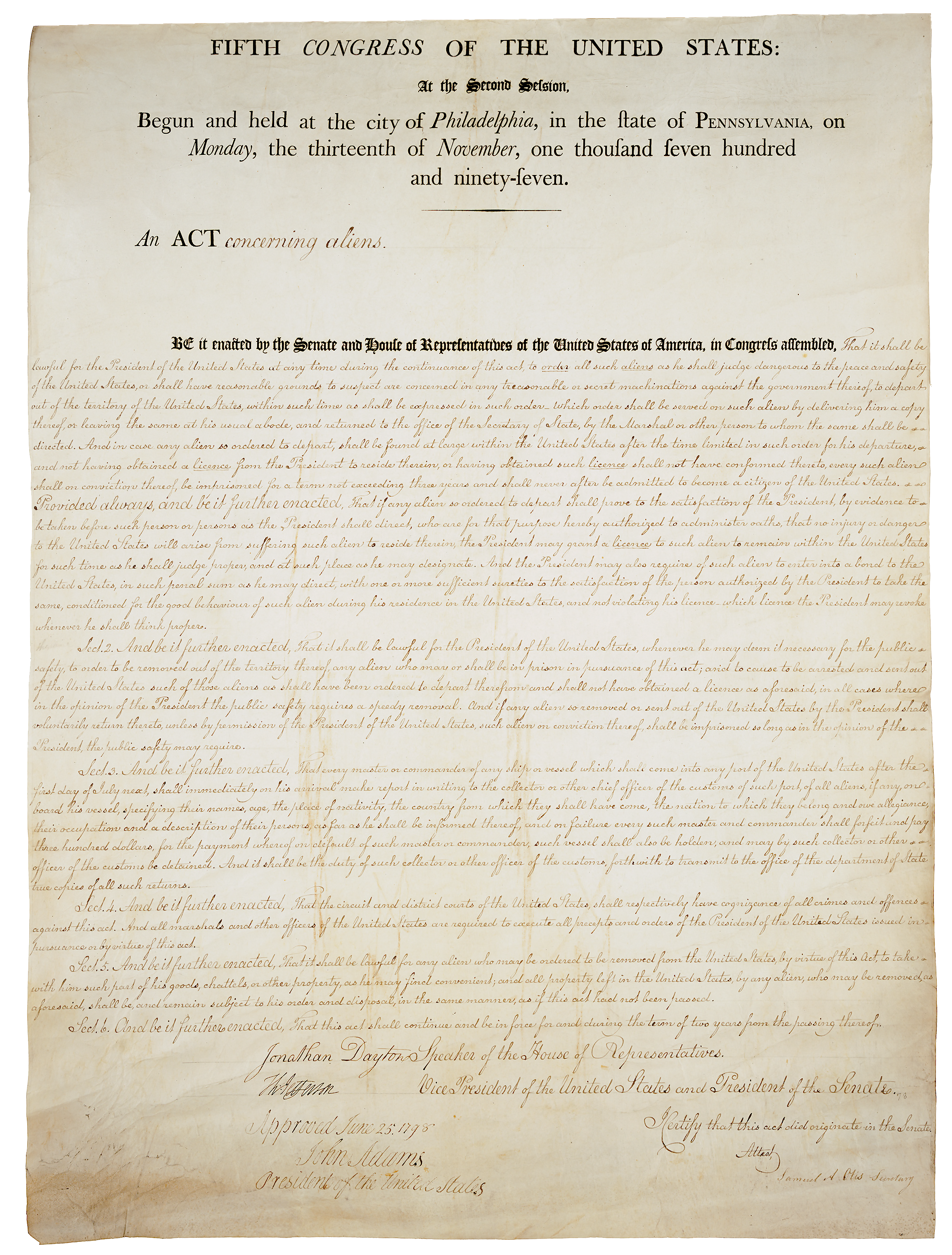 an analysis of sedition act of 1798 For the first few years of constitutional government, under the leadership of george washington, there was a unity, commonly called federalism that even james madison (the future architect of the republican party) acknowledged in describing the republican form of government-- and according to the degree of pleasure.