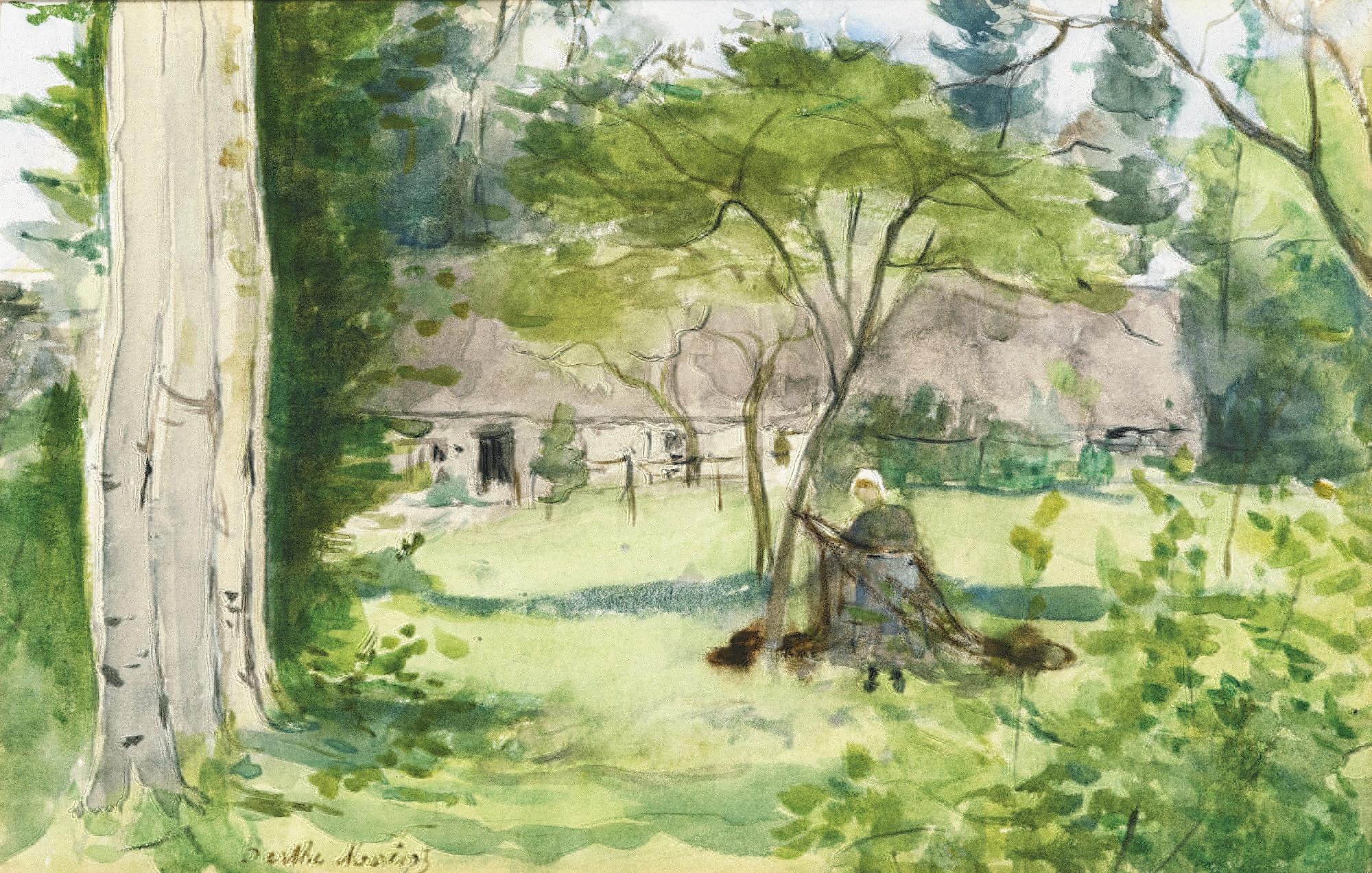 Paysage 2000 pour file:berthe morisot - paysage (watercolour) - wikimedia commons