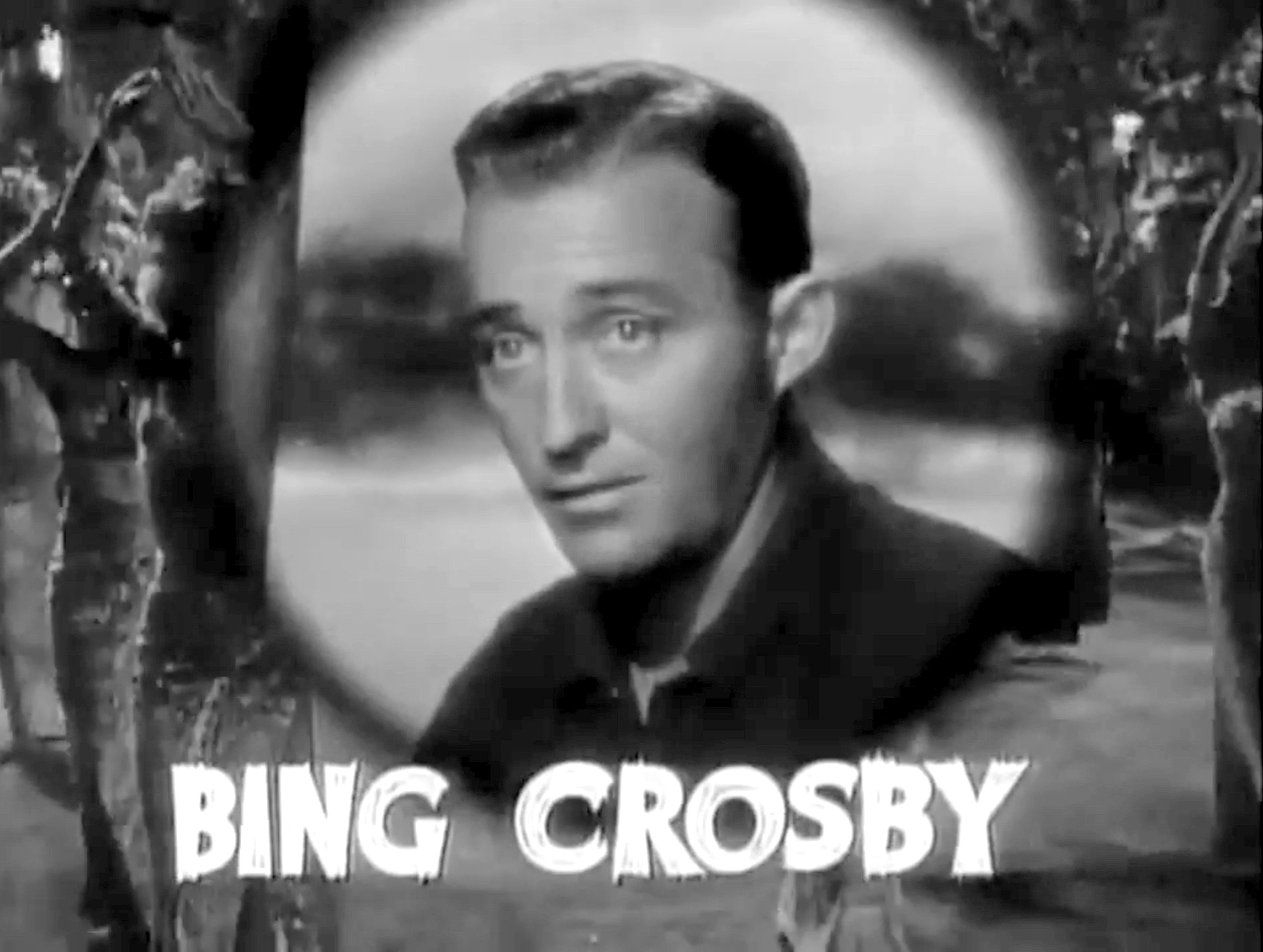 Cropped screenshot of Bing Crosby from the tra...