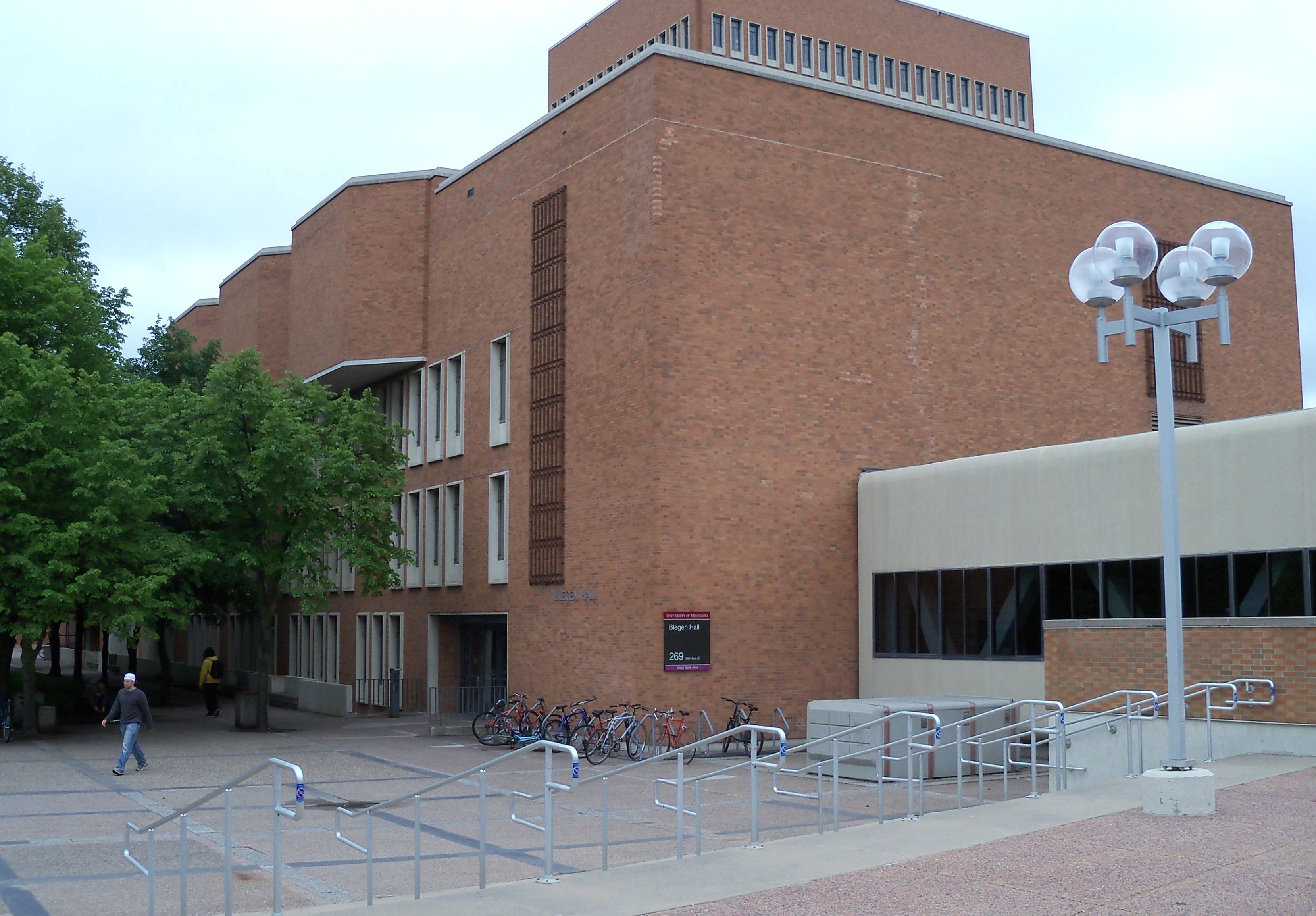 Blegen Hall on the Minneapolis campus of the University of Minnesota