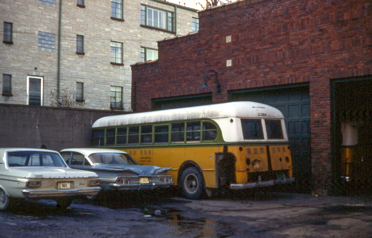 File:Burlington Transit Lines 2384, a 1947 Ford Transit Bus, in 1968.