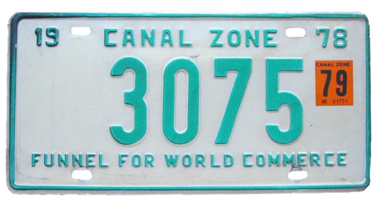 Vehicle registration plates of the Canal Zone - Wikipedia
