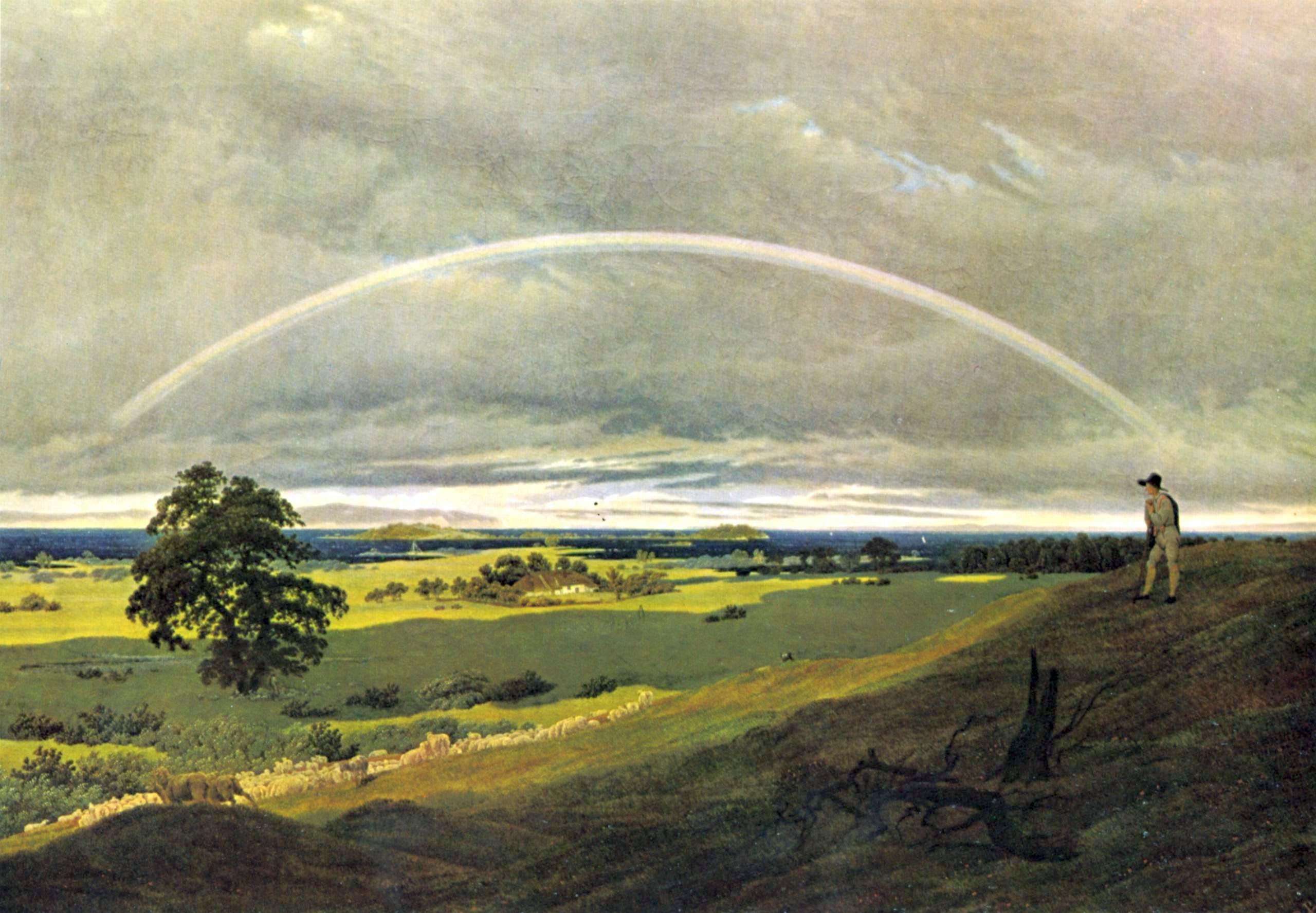 Landschaftsmalerei romantik friedrich  Gebirgslandschaft mit Regenbogen – Wikipedia