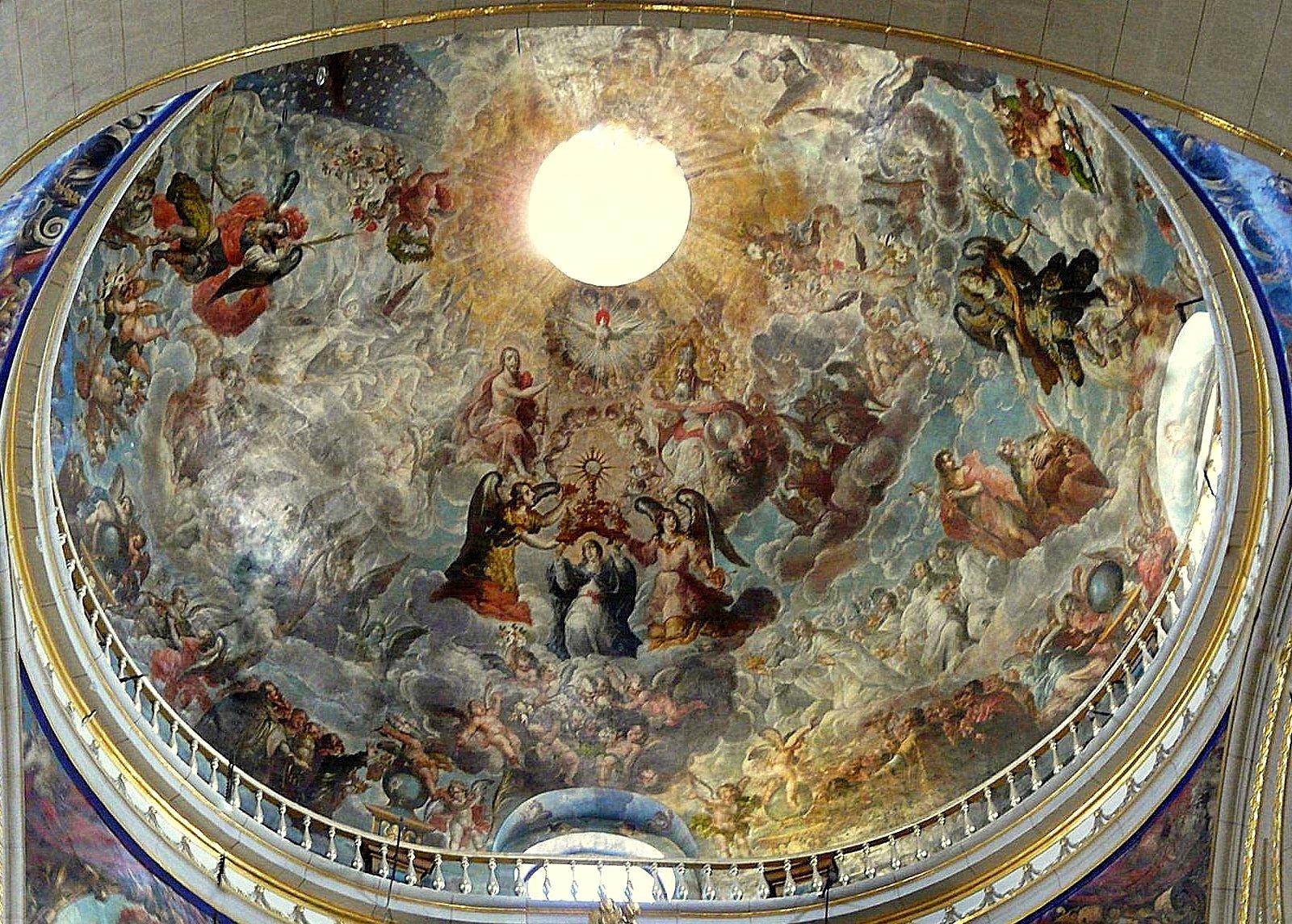 Vista de la cúpula de la Catedral de Puebla